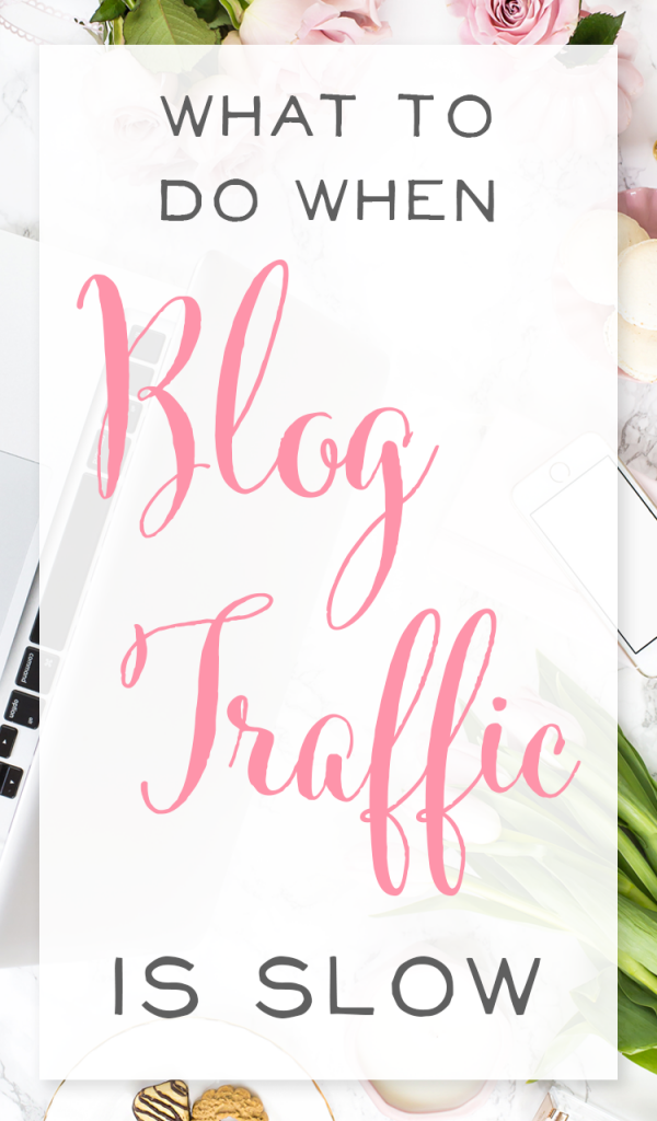 Great advice for overcoming low blog traffic. Blogging tips, how to grow blog traffic - and when you should head outside of your blog to make an impact elsewhere when blog traffic is slow. I hadn't heard most of these ideas before! | brilliantbusinessmoms.com