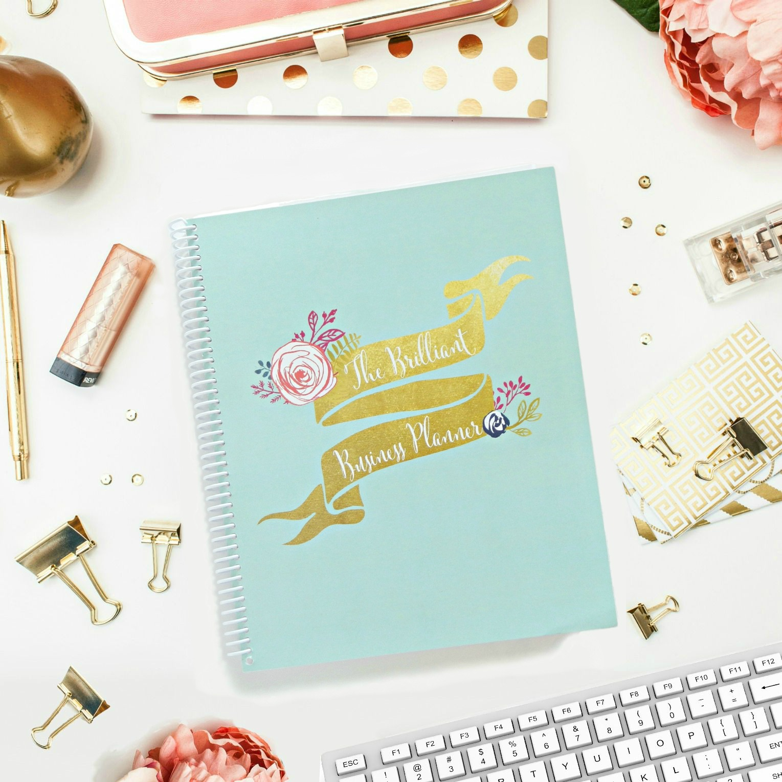 The Brilliant Business Planner - perfect for bloggers, etsy sellers, and brilliant mamapreneurs. A planner for work-at-home moms and girl bosses.