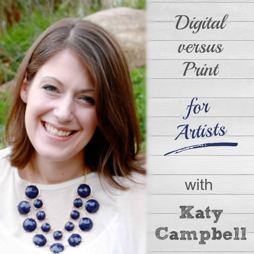 Loved this interview: Digital Versus Print for Artists. Katy has such a unique way of taking her handmade art work and turning it into one-of-a-kind digital designs that she can sell again and again. Great business advice for artists here! | brilliantbusinessmoms.com