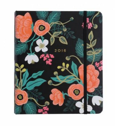 Gorgeous, vintage-inspired floral 2016 planner from Rifle Paper Co. Click to see the entire post on how to find the planner that's right for you - with 8 unique planner reviews! | brilliantbusinessmoms.com