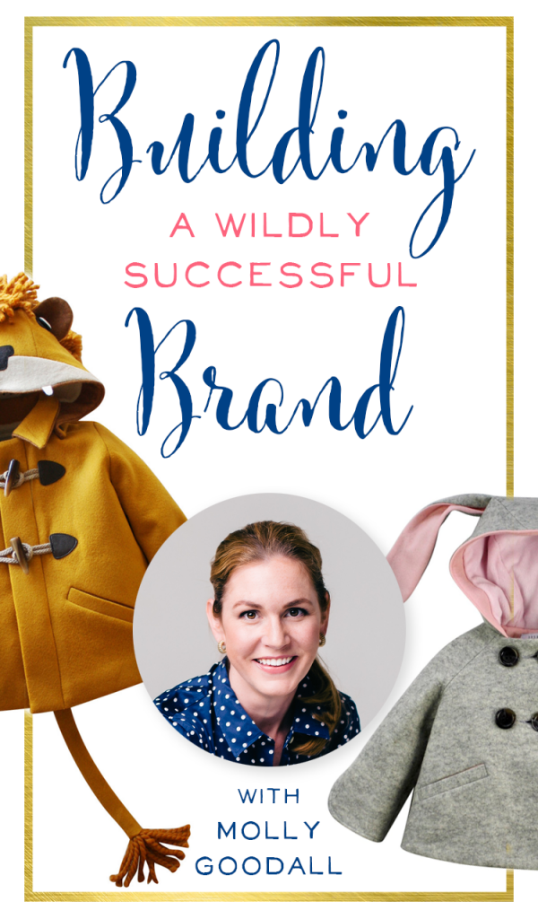 Amazing! I love this podcast episode about talented designer and handmade seller Molly Goodall. She has fantastic tips for building a brand, outsourcing, and licensing. Her children's coats are to-die-for! Etsy Seller Tips | brilliantbusinessmoms.com