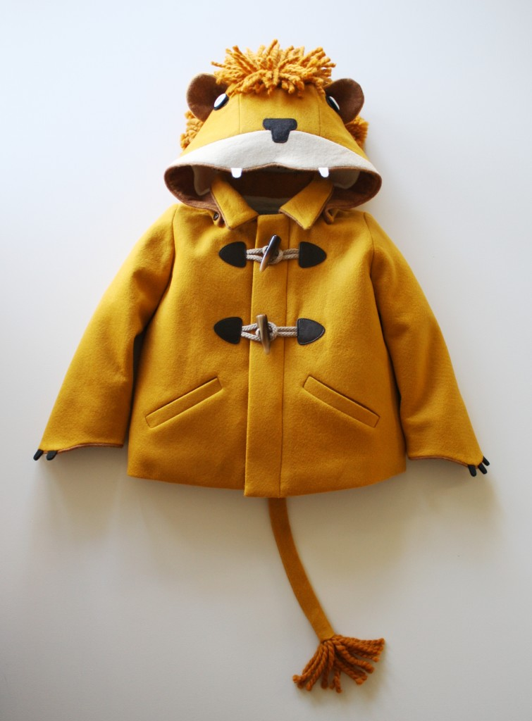 The most adorable children's coat I have ever seen! Lion Coat from Little Goodall