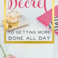 The 8-Minute Secret to Getting More Done All Day!