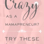 Productivity for Mamapreneurs? Are you going crazy working at home? Try these 5 simple steps! Great tips for handmade sellers especially! | brilliantbusinessmoms.com
