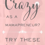 Going Crazy as a Mamapreneur? Try these 5 Simple Steps!