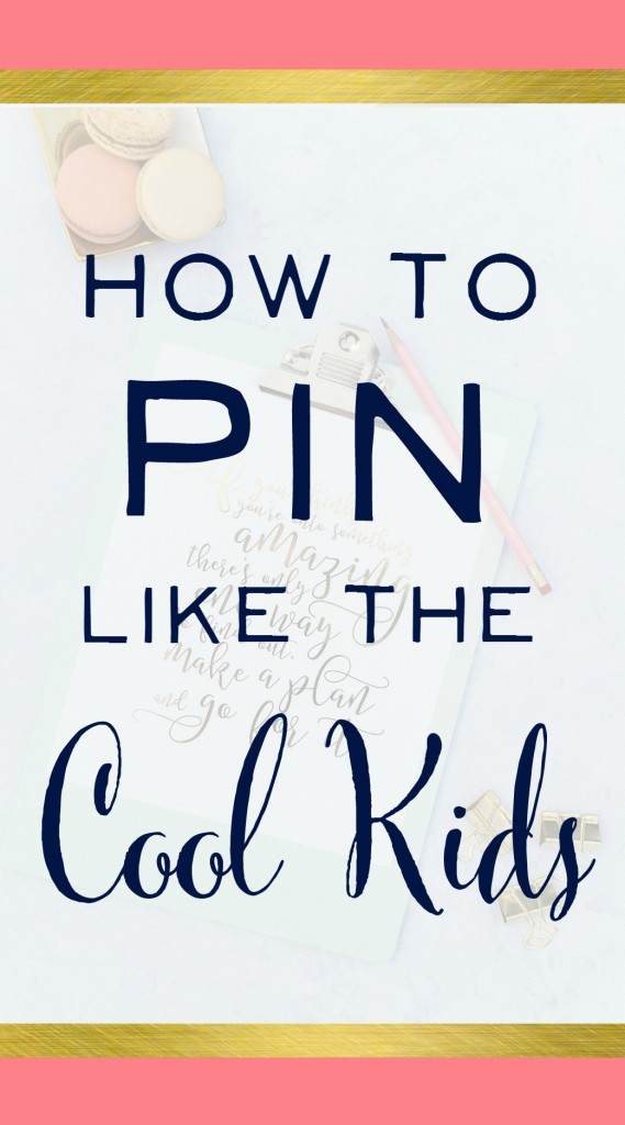 "Oh my goodness - loved this! Finally someone says what we're all thinking... how do you become a cool kid on Pinterest and have your account take off. Awesome Pinterest Marketing Tips here and I'm off to start pinning like a ""cool kid"" :) 