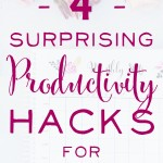 Productivity Hacks for Mompreneurs. Seriously good tips here that will help you get more done - and I love the studies cited that back up the data. | brilliantbusinessmoms.com