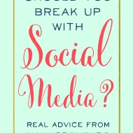 Should You Break Up With Social Media?