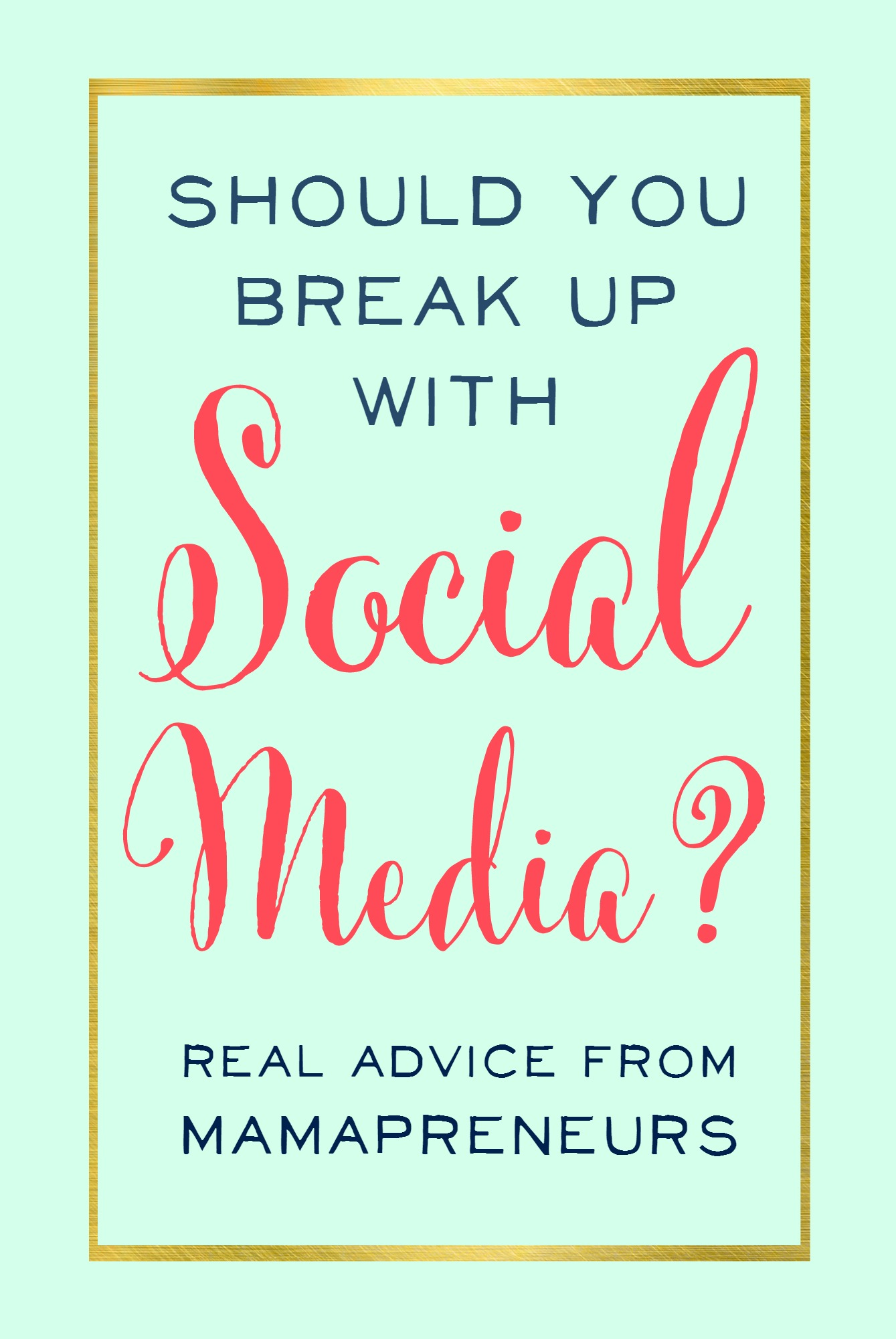 Ohhh Social Media! Should you give up on the comparing, negativity, and insanity involved? Get honest advice on social media marketing from mamapreneurs - and take a deep breath because you don't have to do it all! CLICK HERE NOW TO LISTEN TO THE PODCAST - you'll learn which form of social media is right for which business, the one thing that matters more than strategy when it comes to picking a platform, case studies of six-figure business owners who have ditched all but one form of social media, and why YouTube still matters, even in the age of live-streaming.