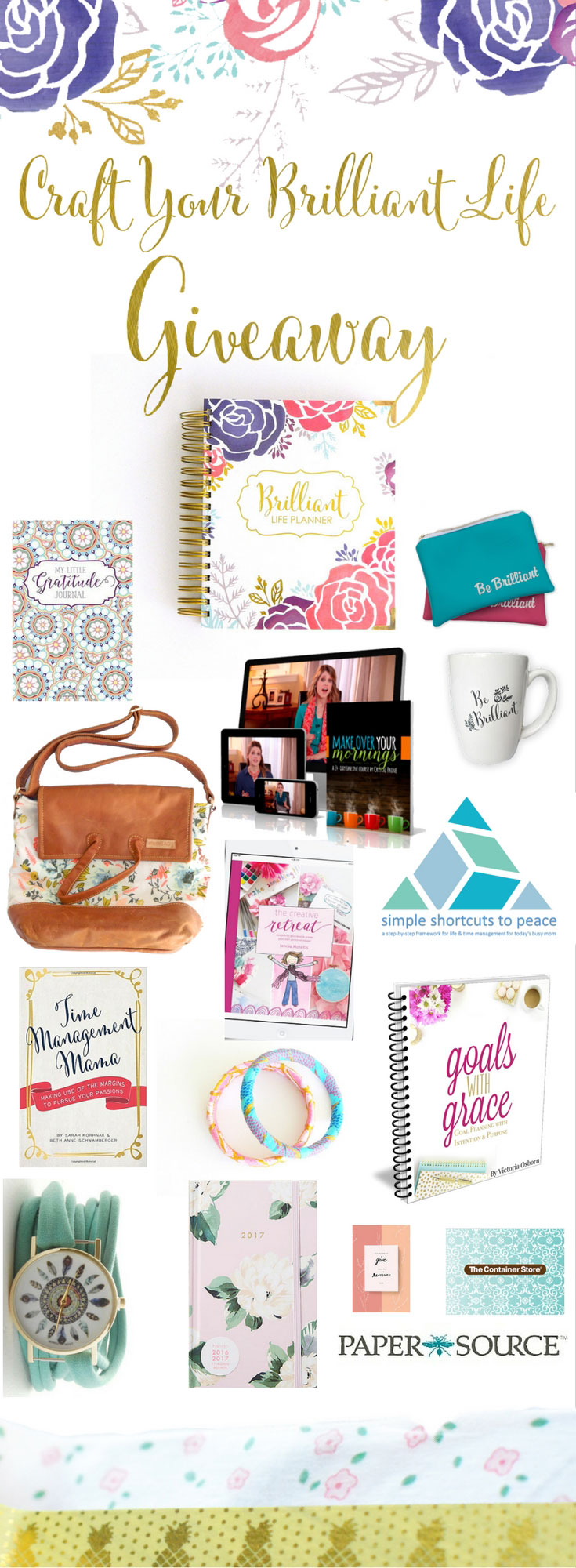 HUGE planner + intentional living giveaway! Craft Your Brilliant Life Giveaway