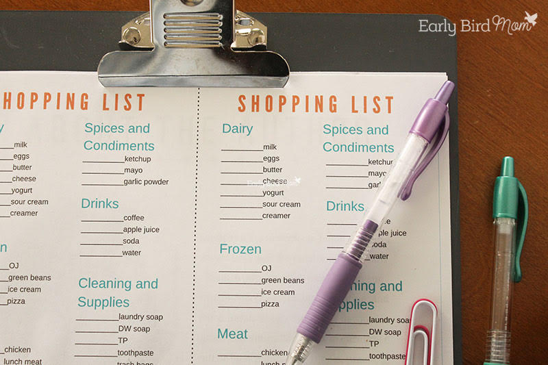 Feed Your Family Planner