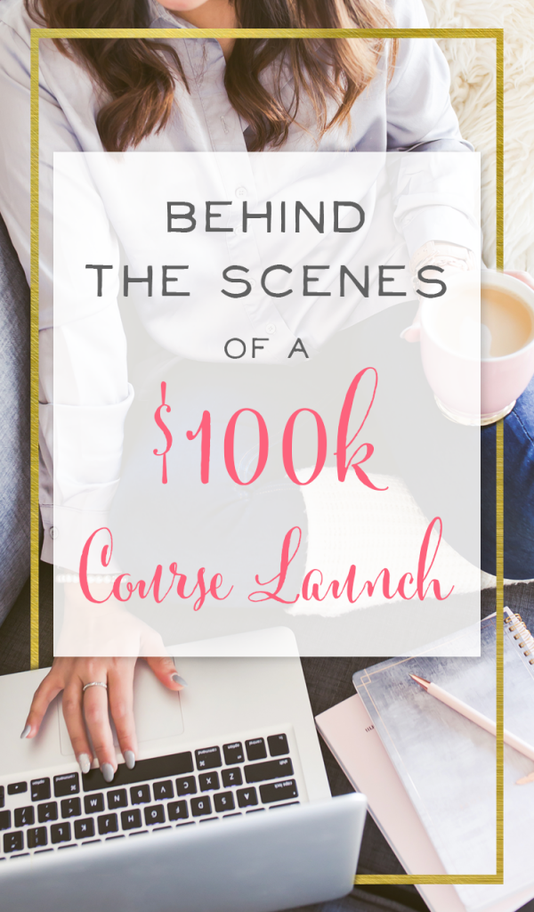 Behind the Scenes of a 100k Course Launch. Learn exactly how I marketed and sold my online course and earned more than 100k in sales in just a few weeks! | BrilliantBusinessMoms.com