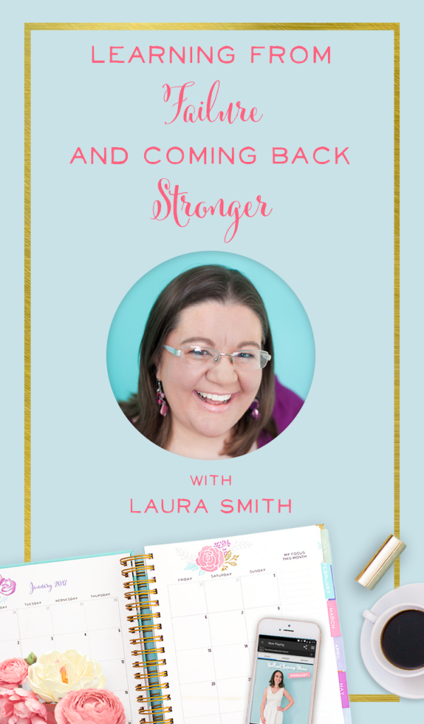 Wow, love this podcast interview with Laura Smith of iheartplanners! Honest talk about failure in business, and how to come back stronger - such great business advice!