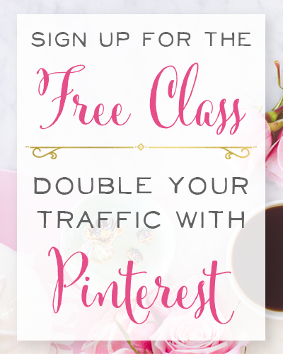 Ready to double your traffic with Pinterest? In this free class you'll learn the 3-step system for putting Pinterest traffic on autopilot, how to quickly create pins that stand out in the feed, how to craft headlines that get results, and the stress-free way to double your blog or online shop traffic