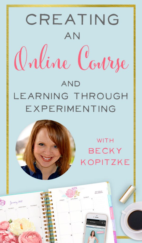 Love these practical tips for creating a course! She walks through pricing a product, and how to launch an online course, including her Facebook ads strategy and the importance of her using and growing an email list. Interview with Becky Kopitzke on the Brilliant Business Moms podcast