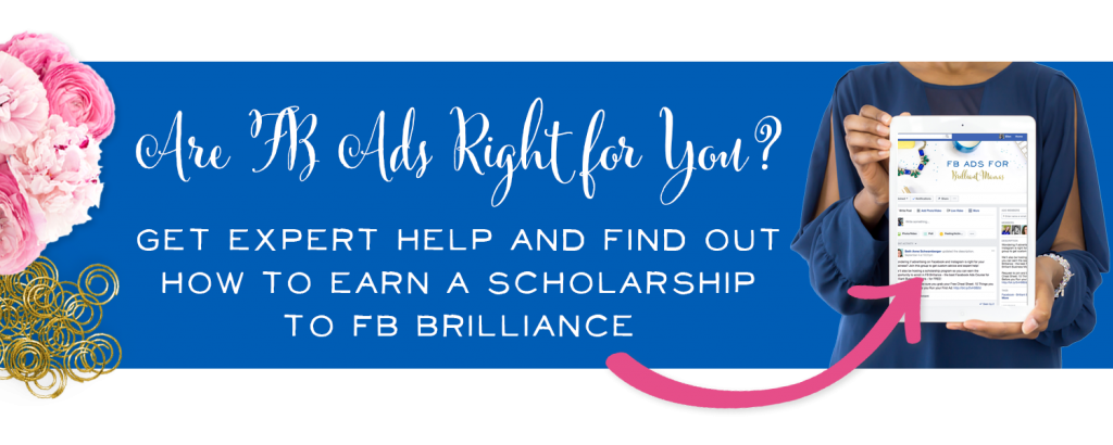 Wow! Brilliant Business Moms is giving away full scholarships to their fabulous Facebook ads course, FB Brilliance. I'm so excited to use FB ads to grow my business!