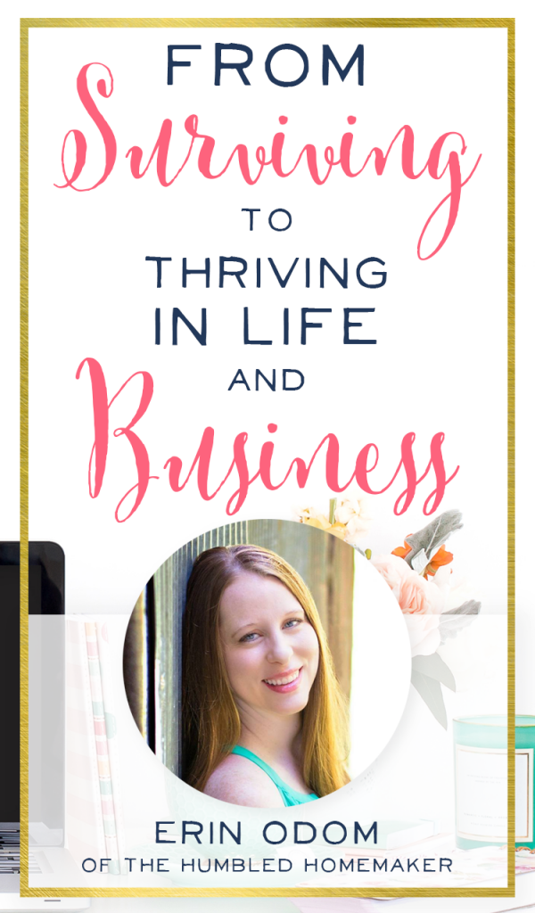 I needed to hear this real life talk from someone who's survived almost being on welfare, living with relatives, and struggling in her everyday life. Erin Odom shows that we can all overcome, just like she did! Her life and business are inspirational!