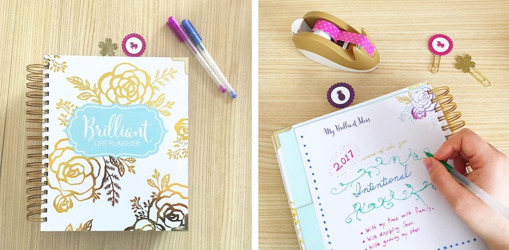 Brilliant Life Planner with clips from Tokyo Blossom Boutique - Brilliant Business Moms