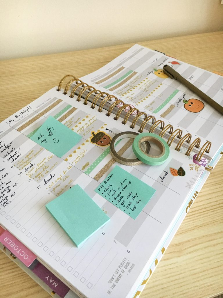 Etsy Shop Owner Julie Fuller's Planner
