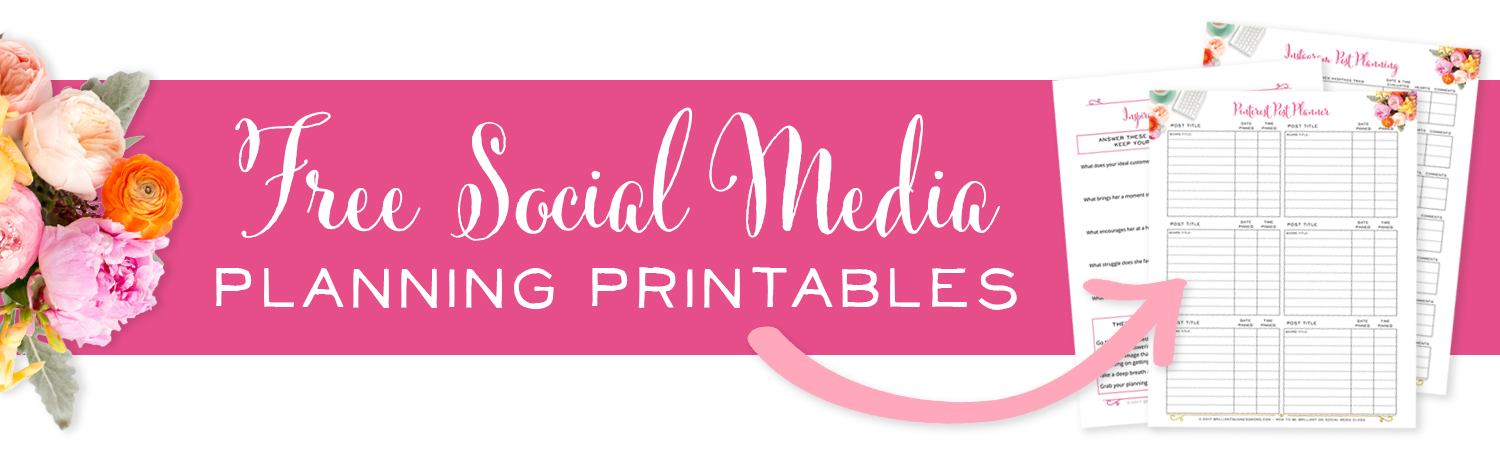 Free Social Media Planning Printables - Take the stress out of social media and get the engagement you want, with business planning pages for Instagram, Facebook, and Pinterest