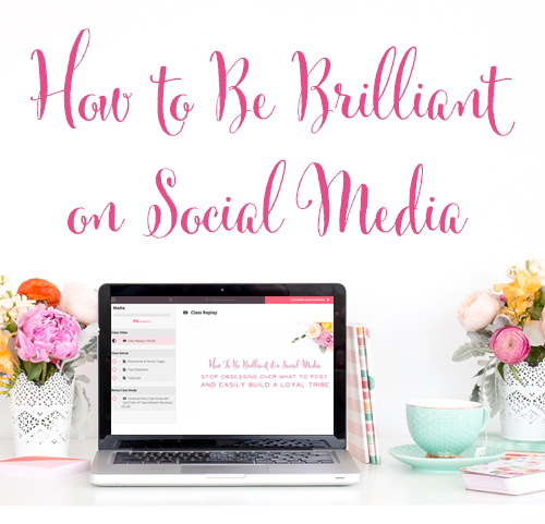 How to Be Brilliant on Social Media - Take the stress out of social media and get the engagement you want, with this social media class that includes business planning pages for Instagram, Facebook, and Pinterest