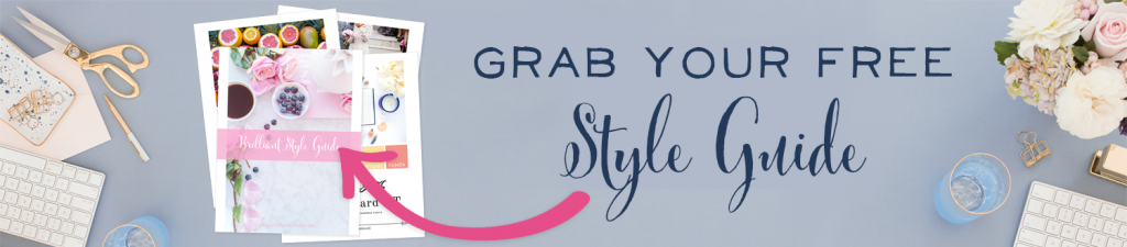 Get your FREE business style guide to help brand your business