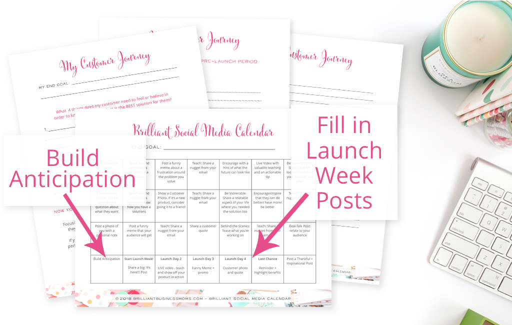 Grab Your Social Media Content Calendar Customer Journey Printables Right Here And Youre Ready To Create Share Thats Useful