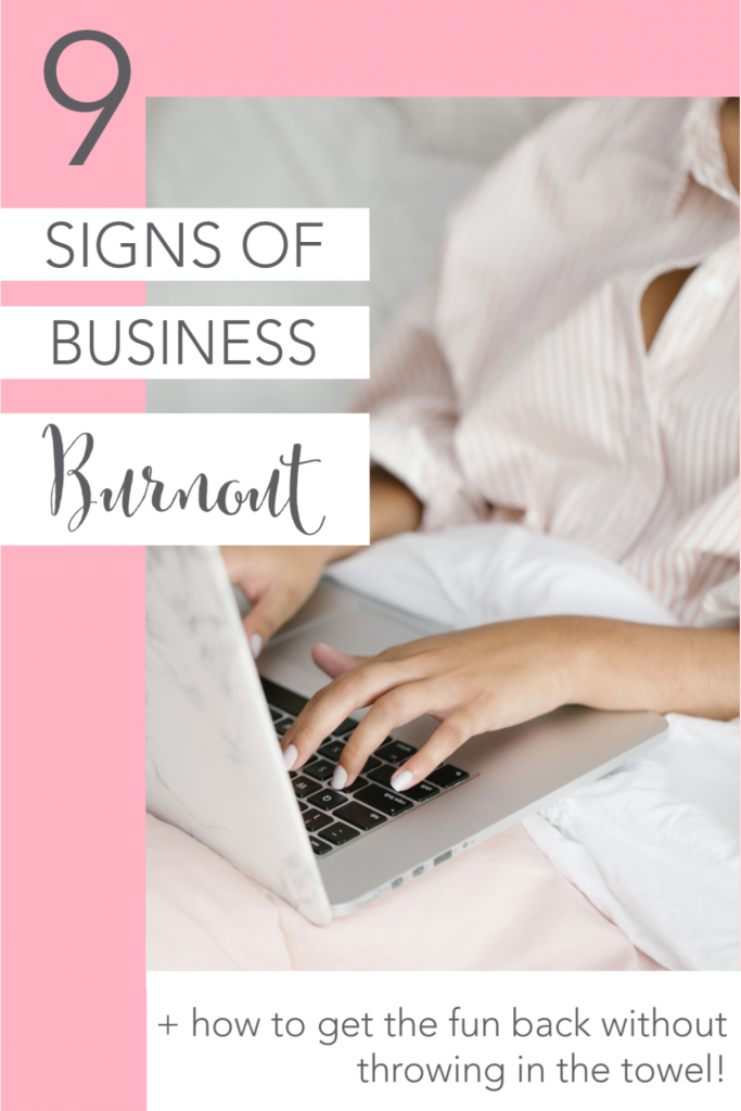 Feeling a little blah about your business? Hear my story of steering my work-at-home-mom business in a completely different direction, why that wasn't the solution at all, and the 9 signs to look for that show you might be feeling burned out. Plus, learn how to get the joy back in your business and make it feel fresh and fun again WITHOUT starting something brand new that takes up all of your time!