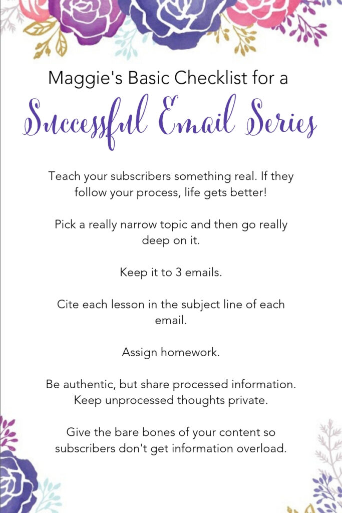 Successful Email Series Checklist