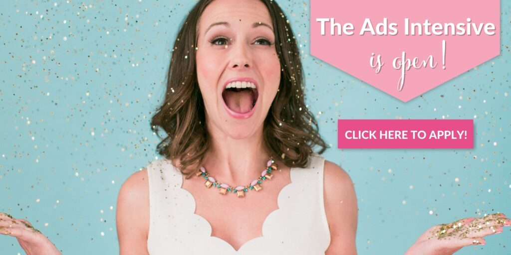ad for Brilliant Business Moms Facebook Ads Intensive course