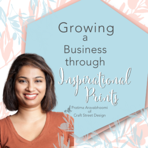 Title Image with text: Growing a business through Inspirational Prints