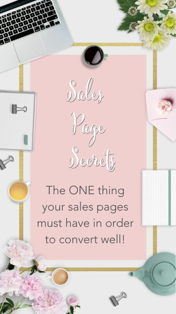 Title Text Sales Page Secrets - the ONE thing your sales page must have in order to convert well